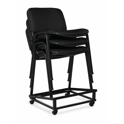 Offices To Go Armless Stacking Chair with Chrome Frame