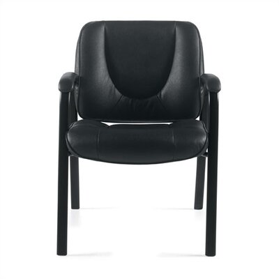 Offices To Go Leather Guest Chair with Coated Frame