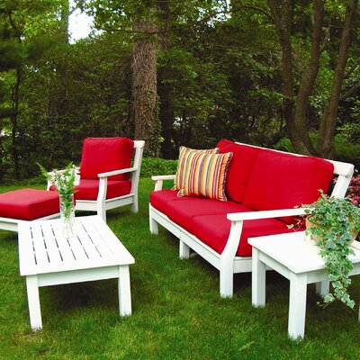 Seaside Casual Nantucket Deep Seating Group with Cushions