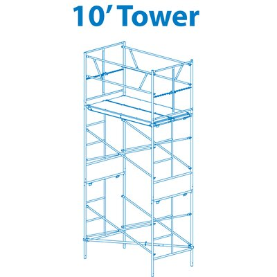 Granite Industries Homebuilder 10' Scaffold Tower with Leveling Jacks