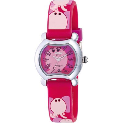 Juniors Elephant Design Watch in Watermelon