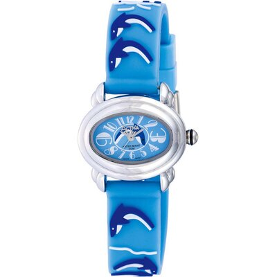 Juniors Dolphin Design Watch in Light Blue