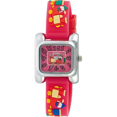 Juniors Train Design Watch in Watermelon