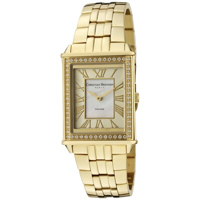 Christian Bernard Women's Highlight Rectangular Watch