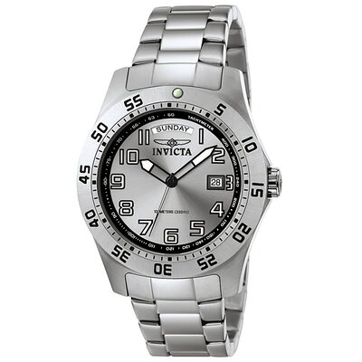 Invicta Men's Pro Diver Stainless Steel Watch with Silver Dial