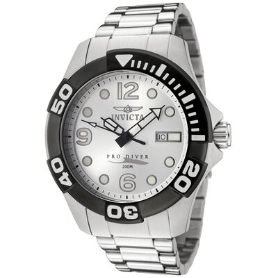 Men's Pro Diver Silver Dial Watch