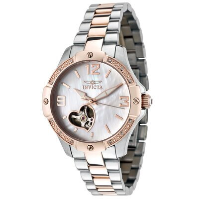Women's Specialty Automatic Diamond Accented Round Watch