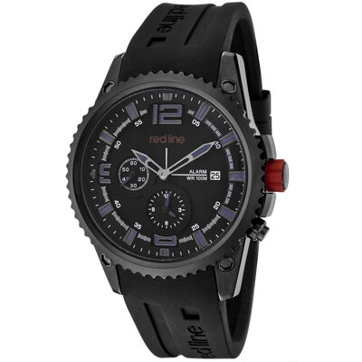 Men's Boost Alarm Silicone Round Watch