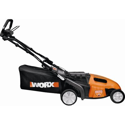 "Worx 19"" 3-in-1 Cordless Pacesetter Lawn Mower with Intellicut"