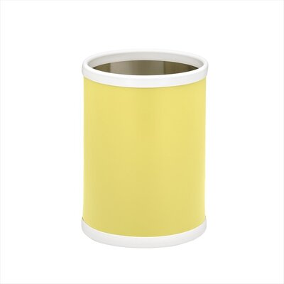 "Kraftware Bartender's Choice Fun Colors 10"" Waste Basket in Lemon"