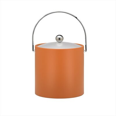 Bartender's Choice Fun Colors 3 Qt Ice Bucket in Spicy Orange