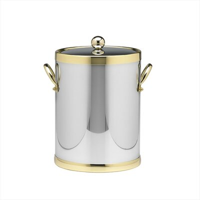 Kraftware Americano 5 Qt Ice Bucket with Side Handle in Chrome