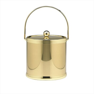 Americano 3 Qt Ice Bucket with Bale Handle in Brass
