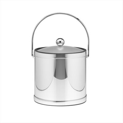 Kraftware Mylar 3 Qt Ice Bucket with Lucite Cover in Polished Chrome