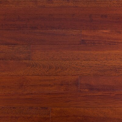 Mazama Semi-Gloss 3-5/8&quot; Solid Kempas in Royal Mahogany
