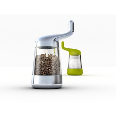 Joseph Joseph Wind and Grind Salt and Pepper Mill in Chrome