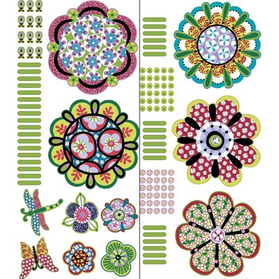 WallPops! Sheets Flower Power Wall Art