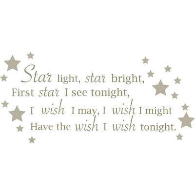 WallPops! Star Light, Star Bright Baby Wall Wishes Decal