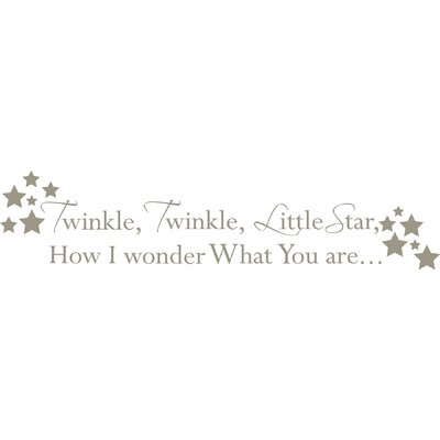 WallPops! Twinkle, Twinkle Baby Nursery Rhyme Wall Decal