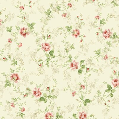 Willow Cottage Floral Trail Wallpaper in Pink