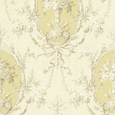 Brewster Home Fashions Willow Cottage Cameo Floral Wallpaper in Beige