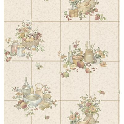 Brewster Home Fashions Kitchen and Bath Resource II Raised Tile Wallpaper