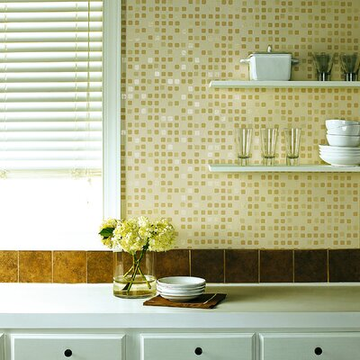 Brewster Home Fashions Kitchen and Bath Resource II Sea Glass Tile Wallpaper