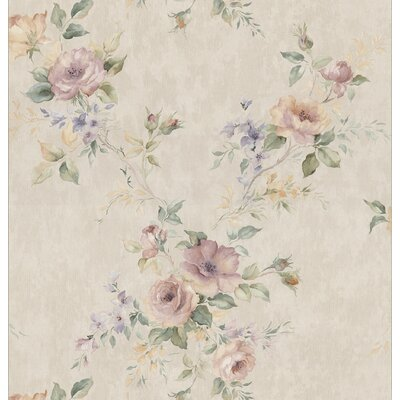 Kitchen and Bath Resource II Deeply Embossed Floral Trail Wallpaper