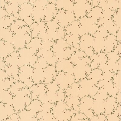 New Country Berry Trail Wallpaper in Pale Yellow