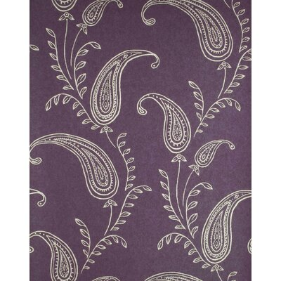 Verve Paisley Wallpaper in Light Gold