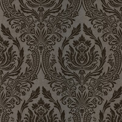 Salon Wreath Damask Wallpaper