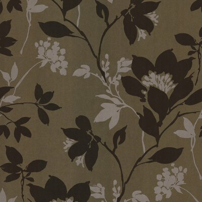 Salon Open Floral Trail Wallpaper in Brown / Cream