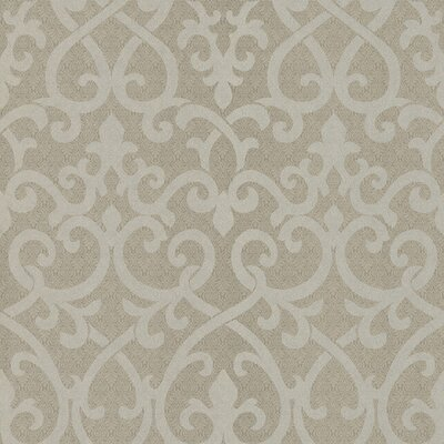 Serene Ironwork Damask Wallpaper in Gray