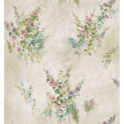 Brewster Home Fashions Mirage Signature V Floral Wallpaper in Off-White