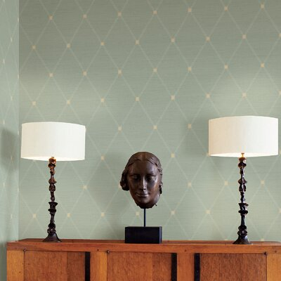 Joseph Abboud Designed Diamond Harlequin Wallpaper in Slate Blue