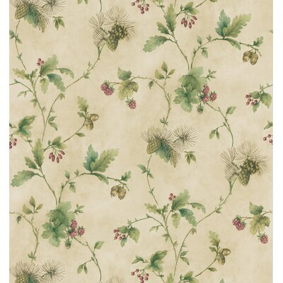 Brewster Home Fashions Northwoods Pine Cone Trail Wallpaper in Cream