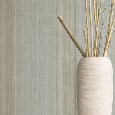 Textures, Techniques and Finishes Linen Stripe Wallpaper