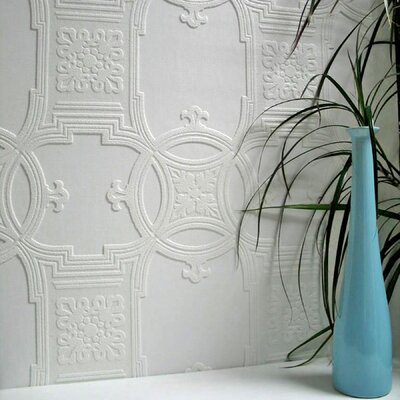 Anaglypta Paintable Early Victorian Textured Wallpaper