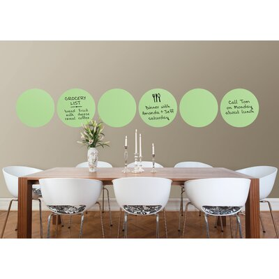 Brewster Home Fashions WallPops Dry-Erase Flirt Dot Decals (Set of 6)