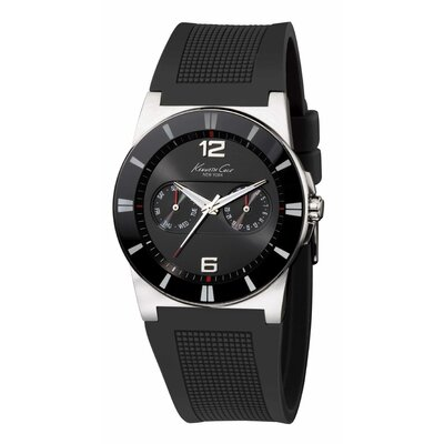 Kenneth Cole Men's Straps Sport Round Watch in Black