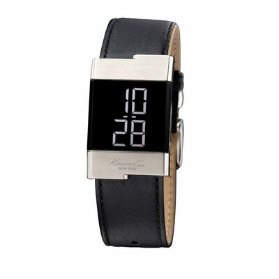 Kenneth Cole Women's Straps Digital Watch in Black