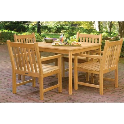 Oxford Garden Classic Patio 6 Piece Dining Set with Umbrella