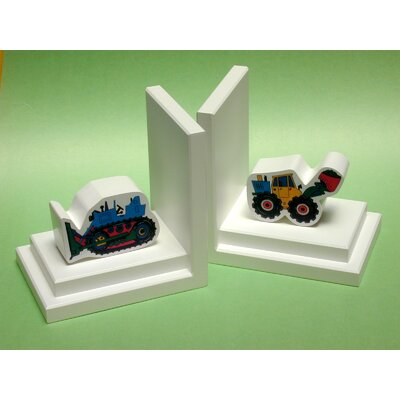 One World Loader / Cat Bookends with White Base