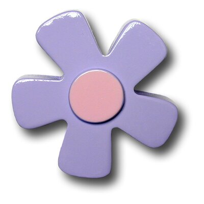 Pastel Daisy Drawer Knob in Purple