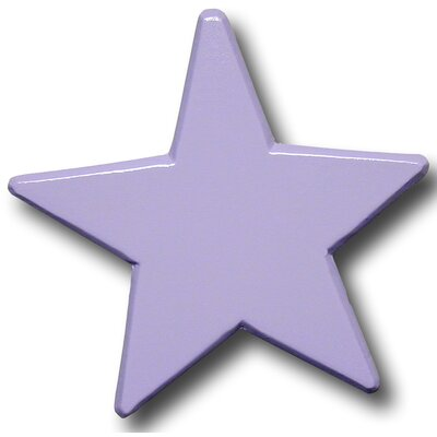 Star Drawer Knob in Pastel Purple