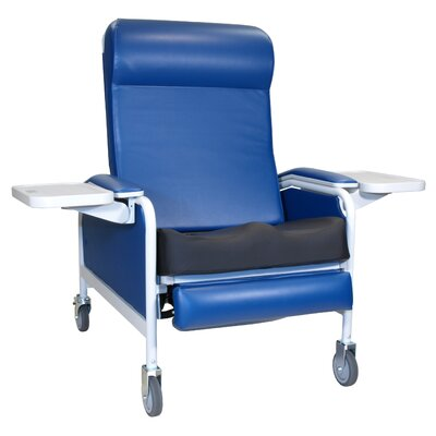 Three Position Extra Large Convalescent Recliner with Saddle Seat