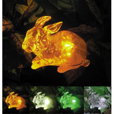 Homebrite Solar Solar Rabbit with Color Change Lighting