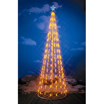 Homebrite Solar String Light Christmas Cone Tree in Yellow