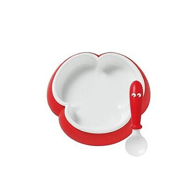 BabyBjorn Bright Red Plate and Spoon Set