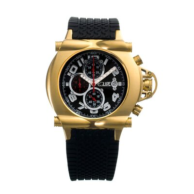 Equipe Rollbar Men's Watch with Gold Case and Black Dial